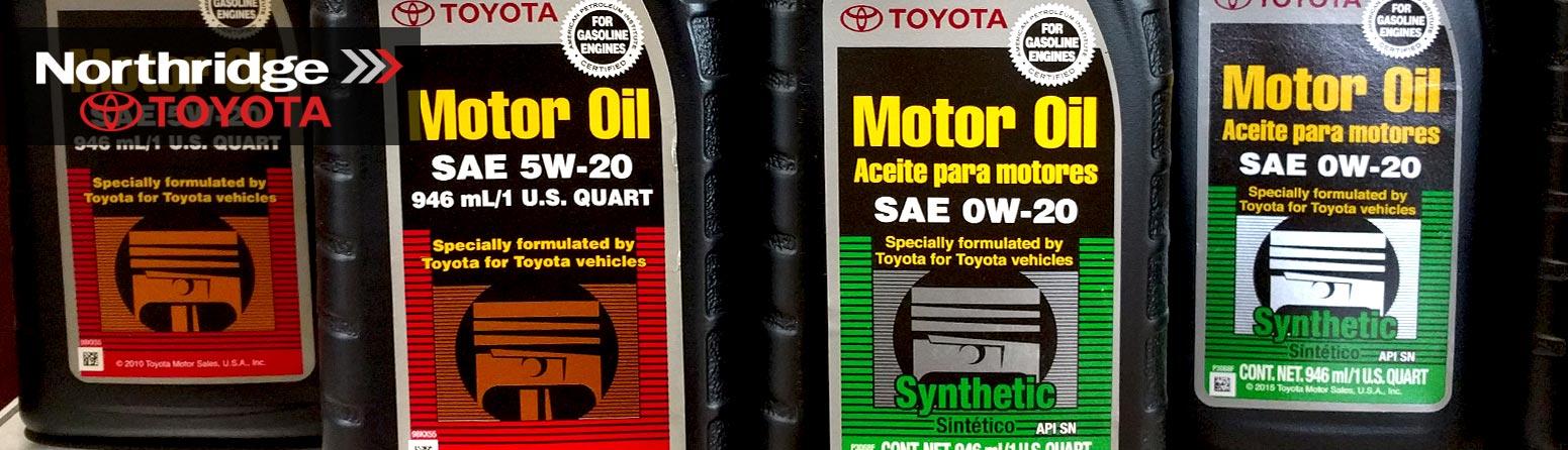 Toyota Conventional Motor Oil vs Toyota Synthetic Motor Oil | Northridge Toyota, serving North Hills, Granada Hills, Lake Balboa & Mission Hills, Pacoima, Arleta