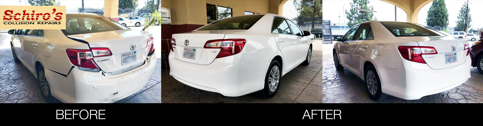 Schiro's Collision Before After Toyota Camry Camry