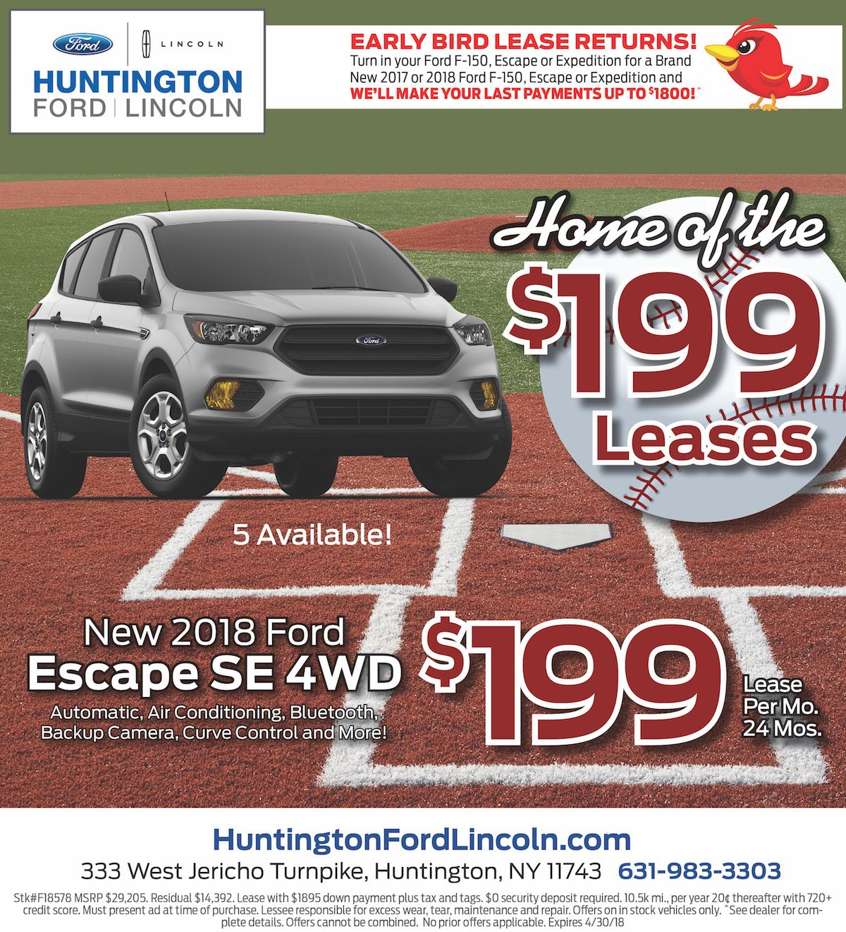 Ford Escape Lease Special New York