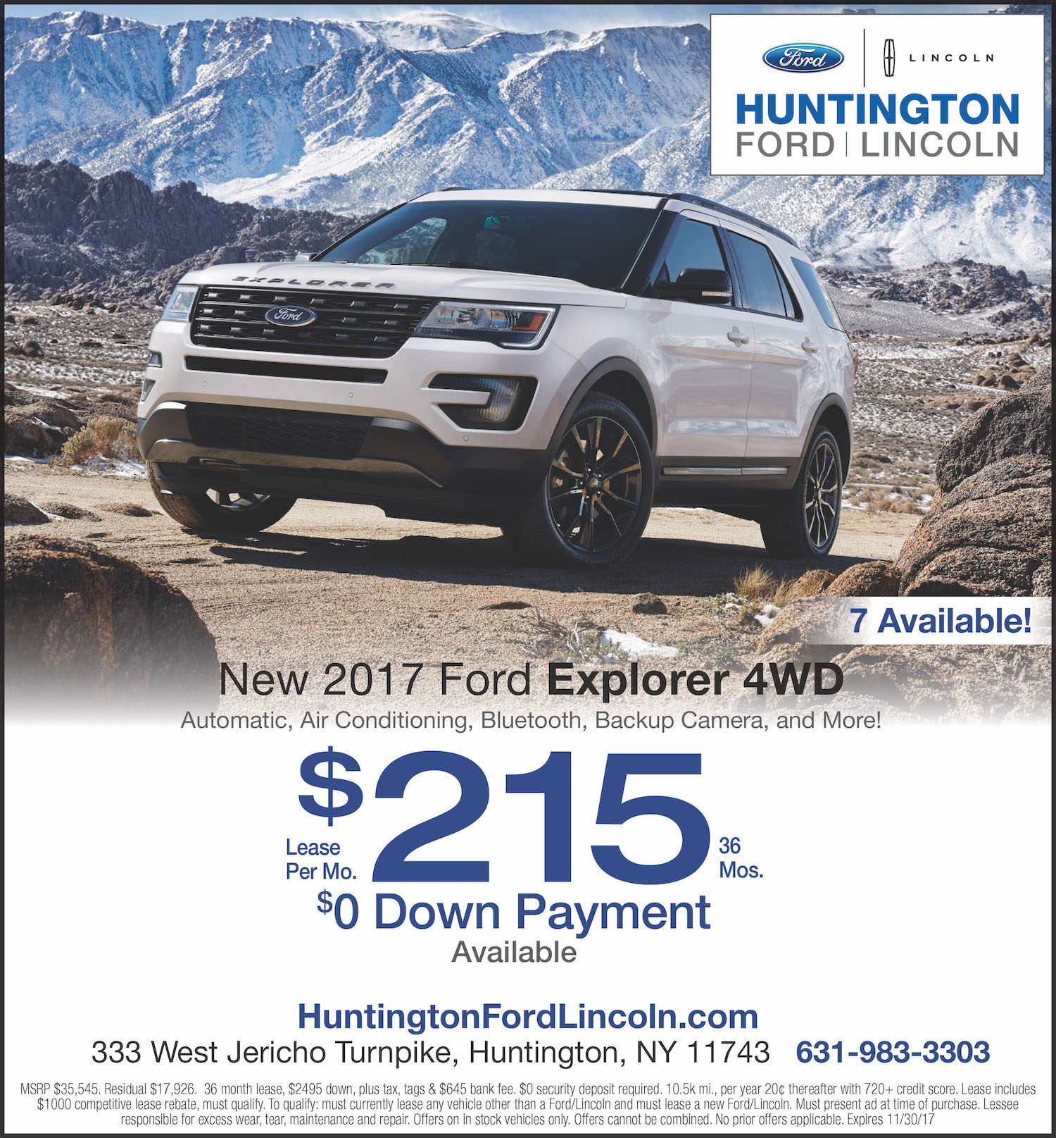 Ford Explorer New Lease