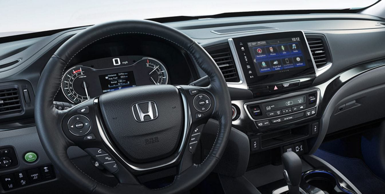 Floor mats honda ridgeline - The Interior Of The Ridgeline New Features Include Push Button Start Floor Mats 12 Volt Power Outlets Heated Leather Steering Wheel Mp3 Bluetooth