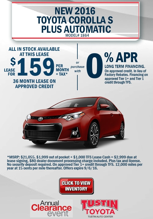 Los Angeles Lexus Service Coupons >> Toyota Specials Lease Finance Offers For Orange County ...