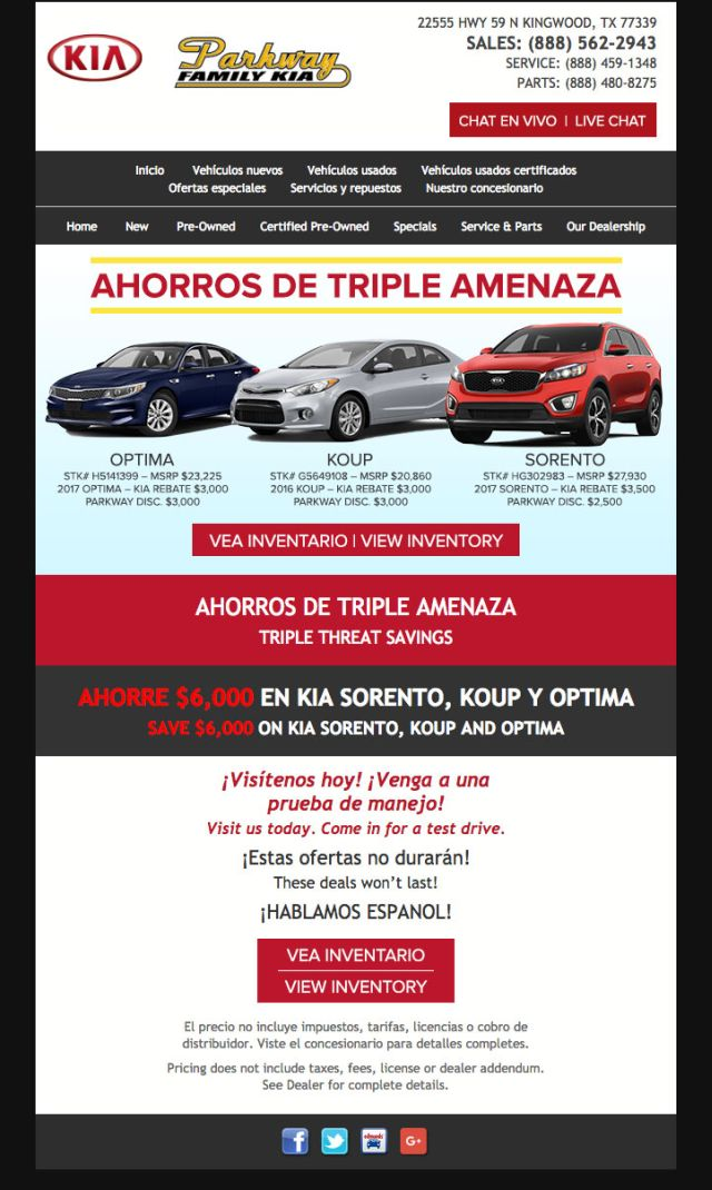 Ahorros De Triple Amenaza Near Houston TX