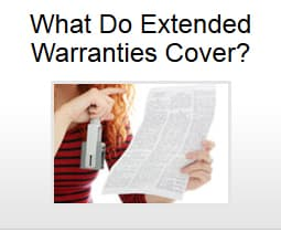 What do extended warranties cover