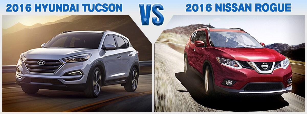 Compare New 2016 Nissan Rogue Vs Hyundai Tucson Price