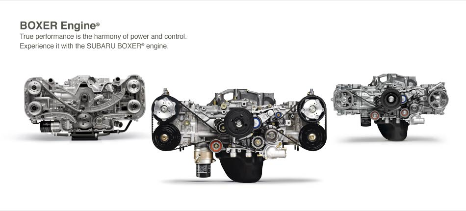 about the subaru boxer engine