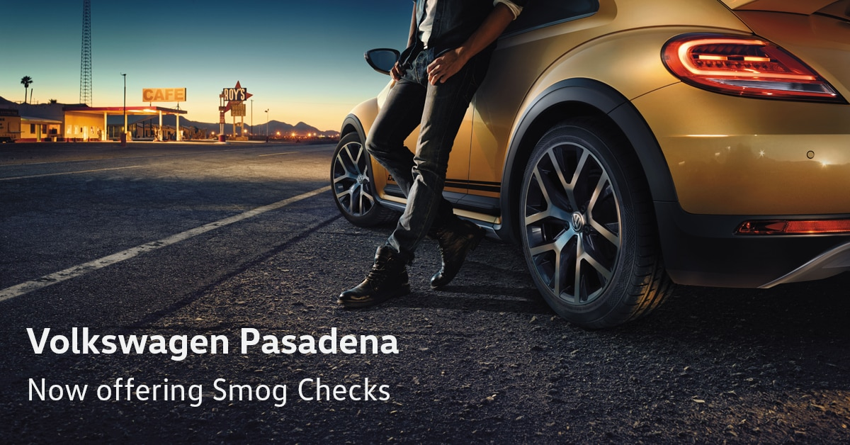 Volkswagen Pasadena is proud to announce that we are now offering smog checks