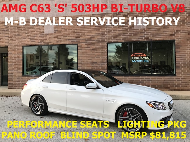 2015 Mercedes-Benz AMG C 63 S Sedan Performance Seats/Lighting Pkg/MSRP $81,815 Sedan