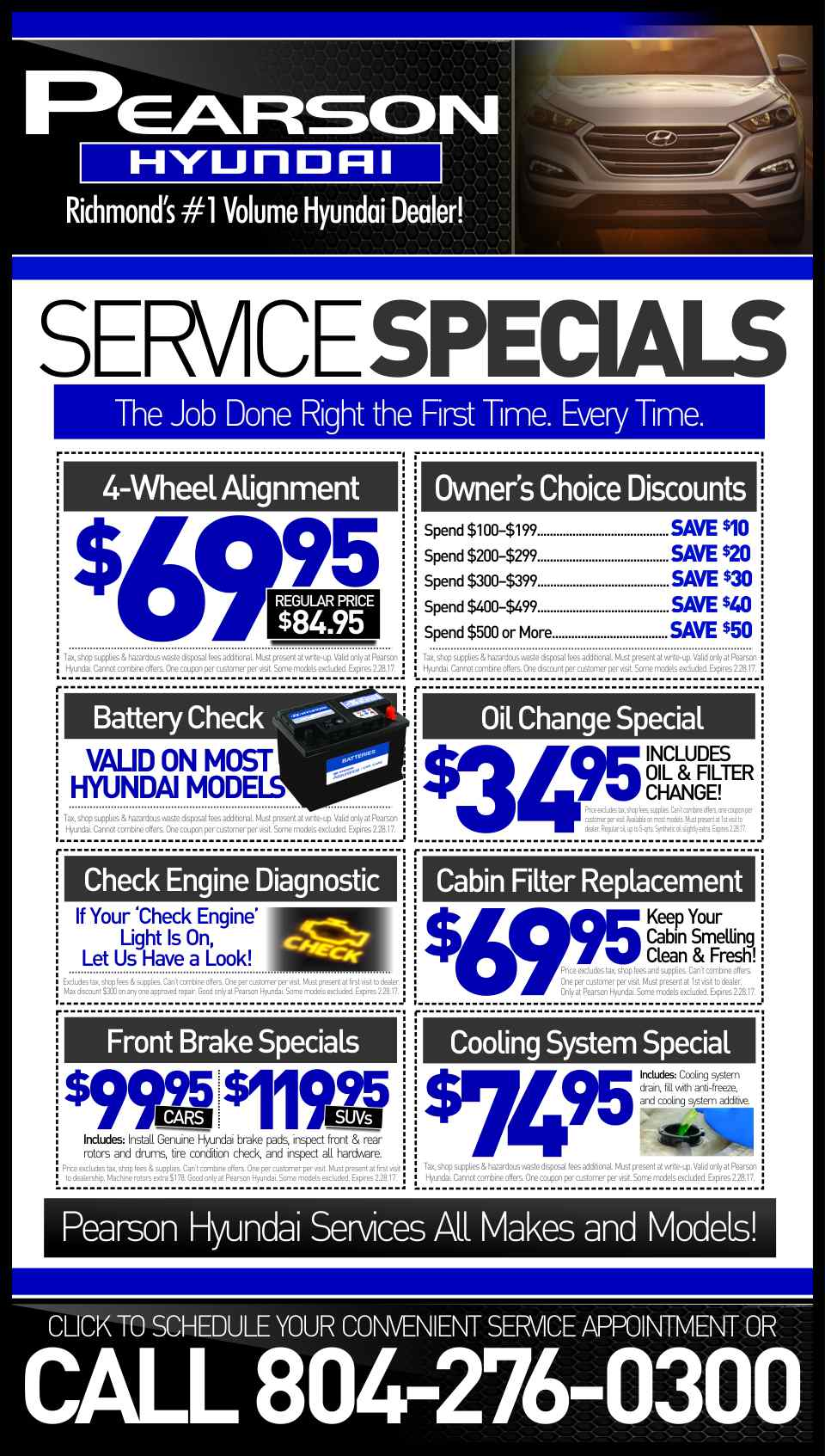 Hyundai service coupons california