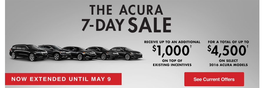 Performance Acura 7-Day Sale Promotion