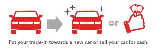 Put your trade-in towards a new car or sell your car for cash
