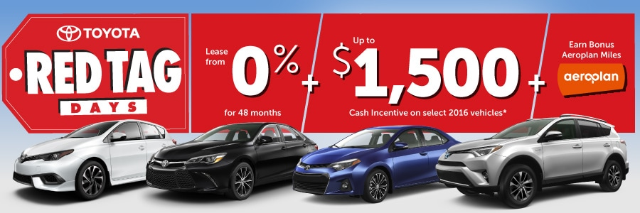 Toyota Red Tag Days Promotion Sale - Performance Toyota