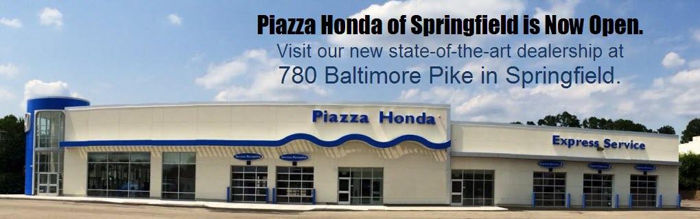 Piazza honda of springfield pennsylvania new honda for Honda dealer springfield
