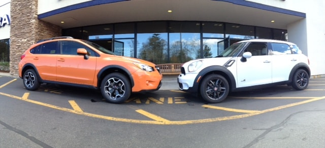 boston subaru dealer planet subaru compares the subaru xv crosstrek with the mini cooper. Black Bedroom Furniture Sets. Home Design Ideas