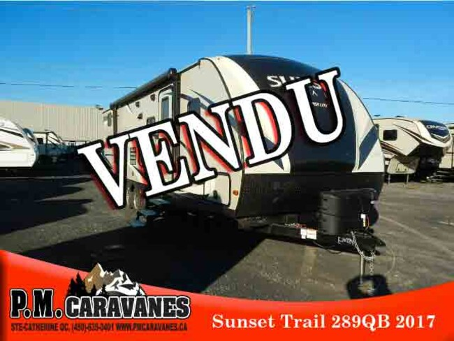 2017 Sunset Trail by Crossroads SS289QB VENDU