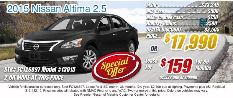 premier nissan of metairie new nissan used car dealer metairie la near new orleans. Black Bedroom Furniture Sets. Home Design Ideas