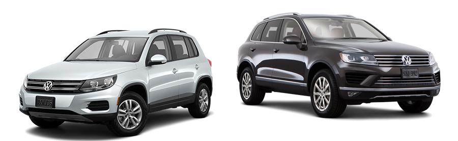 2015 Volkswagen Tiguan vs Touareg