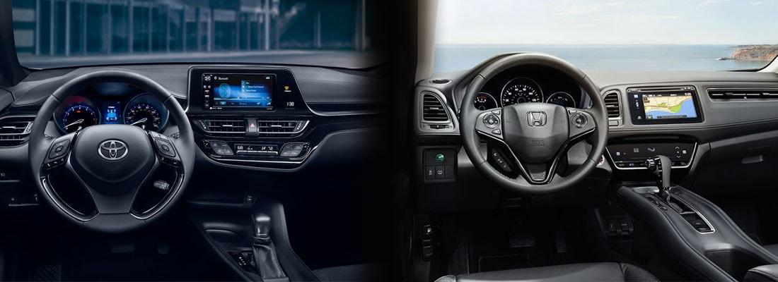 2018 Toyota C-HR vs Honda HR-V Interior