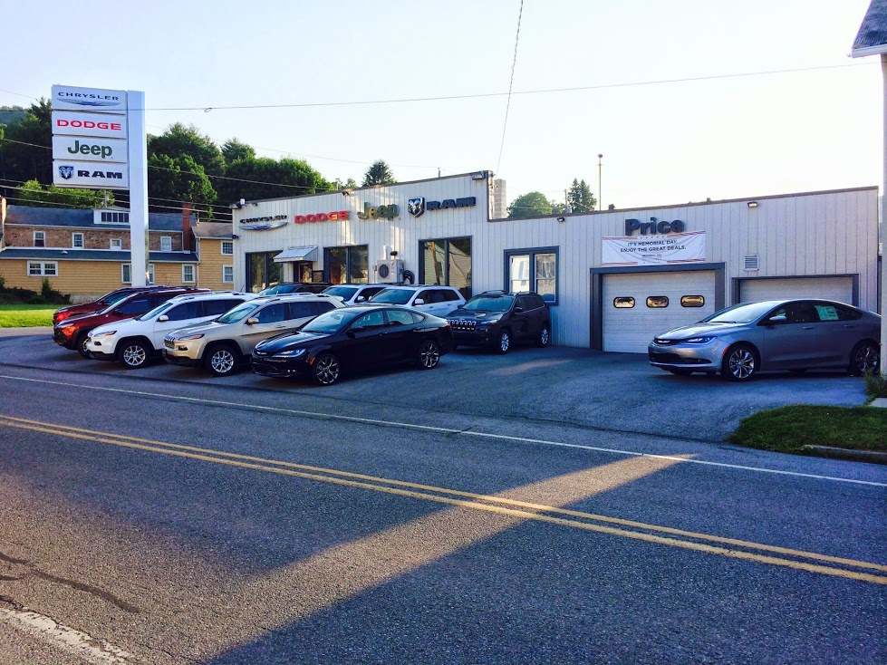 Huntingdon pa chrysler dodge jeep ram dealership for Price motors huntingdon pa