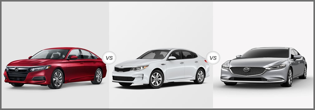 2018 Honda Accord vs 2018 Kia Optima vs 2018 Mazda6