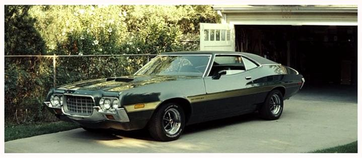 famous movie cars clint eastwood 39 s 1972 gran torino sport near tallahassee monticello fl. Black Bedroom Furniture Sets. Home Design Ideas