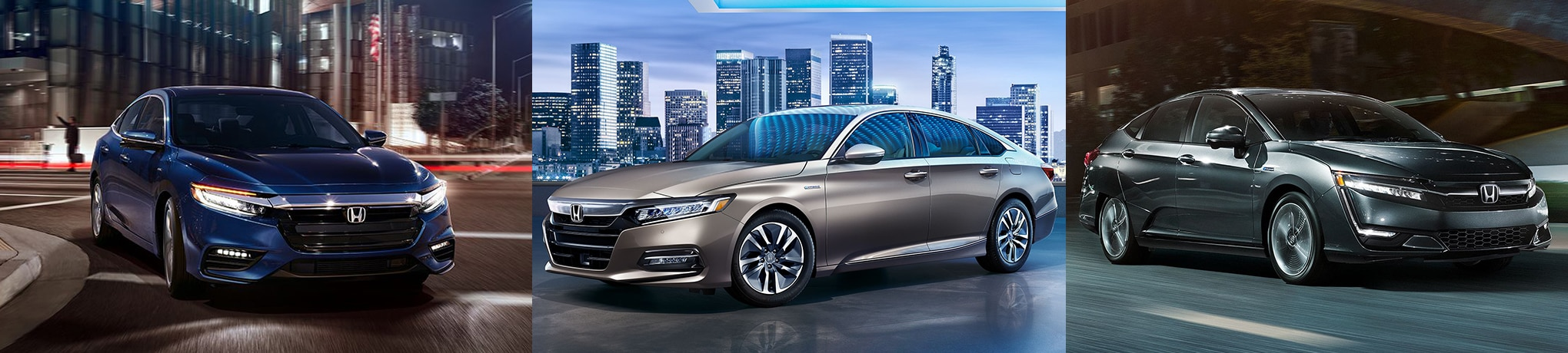 2019 Honda Insight vs 2018 Honda Accord Hybrid vs 2018 Honda Clarity Plug-In Hybrid