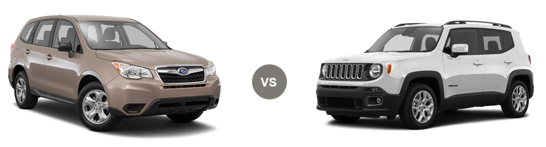 2016 Subaru Forester vs Jeep Renegade Trailhawk
