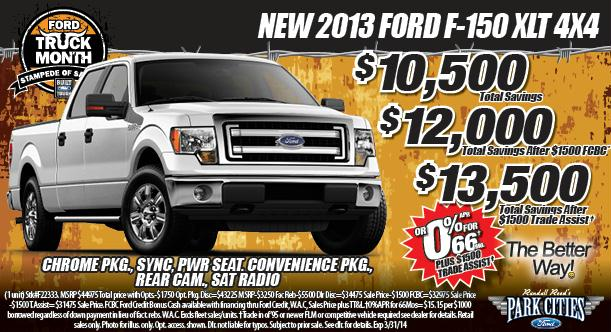 ford truck month specials dallas dallas ford dealer park cities ford of d. Cars Review. Best American Auto & Cars Review