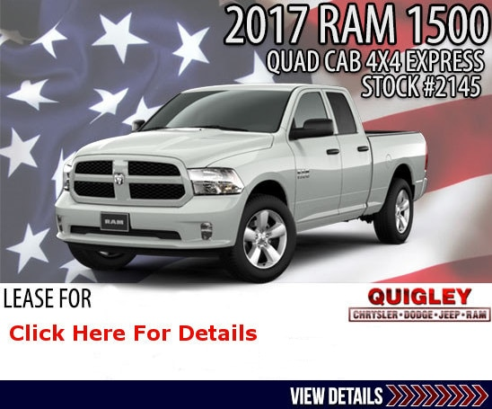 Ram 1500 Quad Cab 4x4 Express for Lease Now at Quigley CDJR.