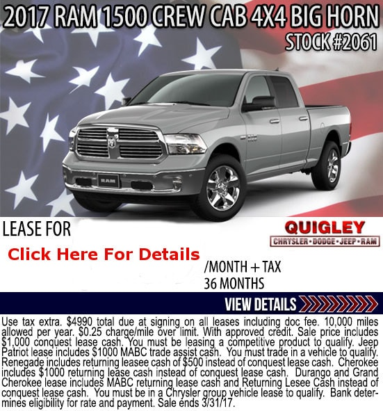 Dodge Ram Lease Deals