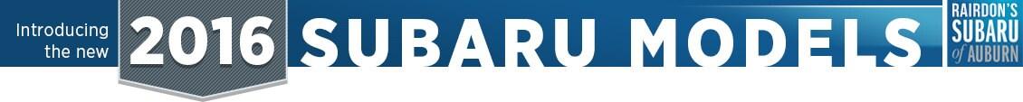2016 Subaru Model Features & Details Serving  Auburn, WA