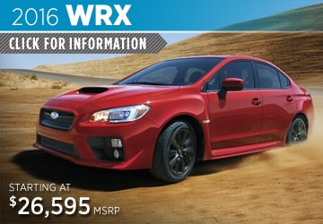 Click to View 2016 Subaru WRX Model Information