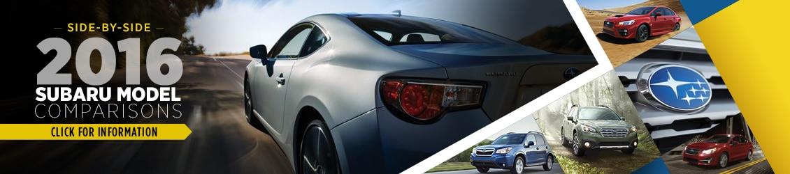 Compare 2016  Subaru Models vs Competition