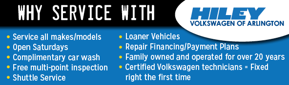 Why Service With Hiley Volkswagen of Arlington