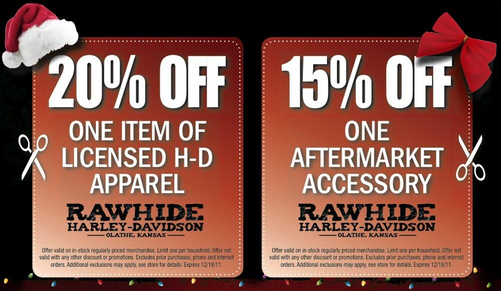 Harley davidson coupon code