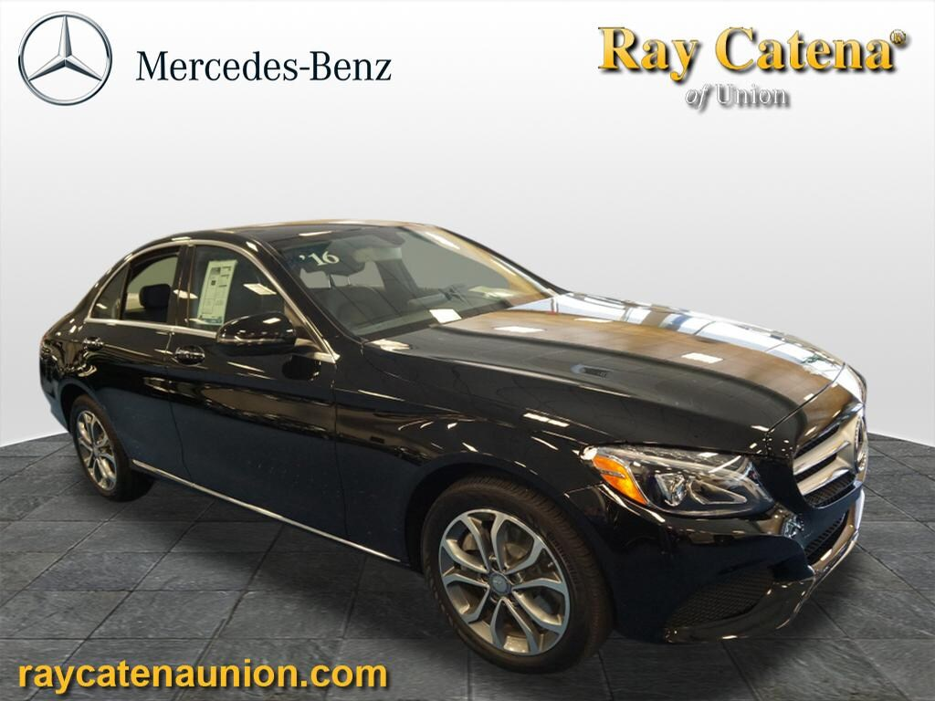 Used 2016 mercedes benz c class sedan jet black for sale for Mercedes benz of edison