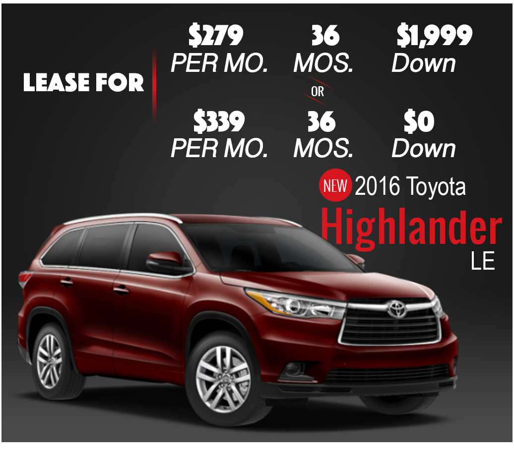 Brooklyn Staten Island Car Leasing Dealer: Highlander Lease Deals