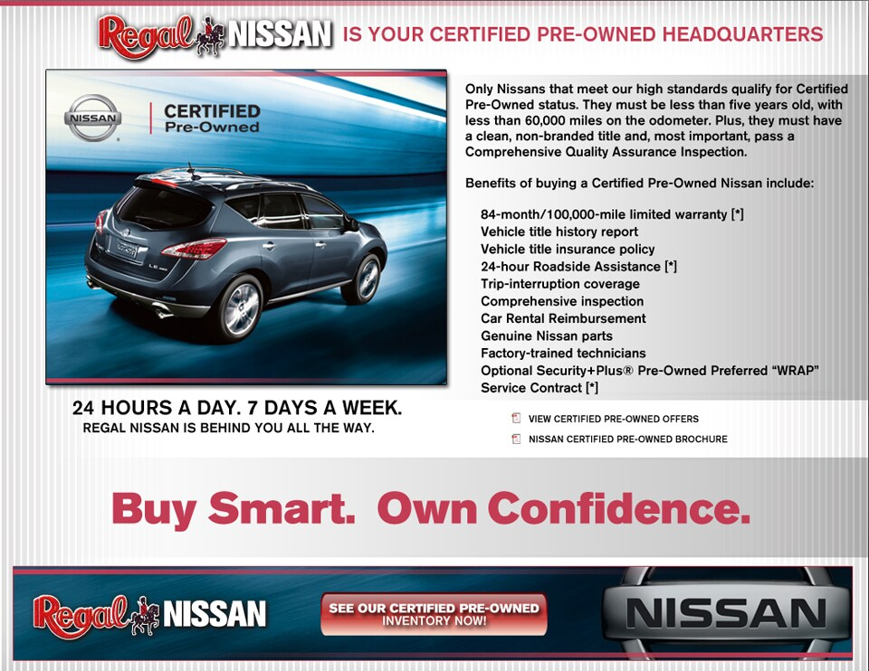 what does certified pre owned mean regal nissan near atlanta. Black Bedroom Furniture Sets. Home Design Ideas