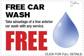 Free Car Wash with any Service