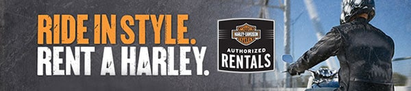 Rent a Harley-Davidson Authorized Motorcycle
