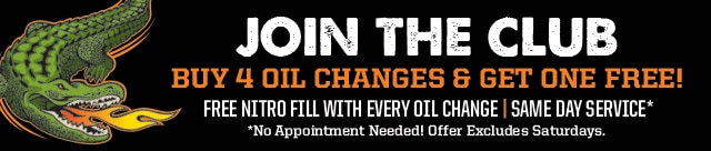 Join the Club - Buy Four Oil Changes Get One Free