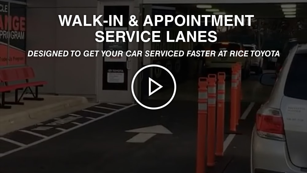Walk-In & Appointment Service Lanes