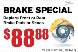 Brake Service Special Richardson TX