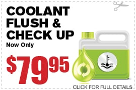 Coolant Flush & Check Up Specials Richardson TX