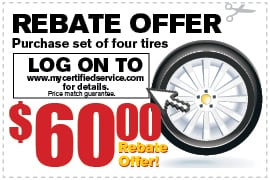 Tire Rebate Offer Richardson TX