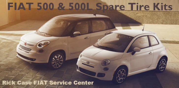 FIAT spare tire kit banner for the 500 and 500L