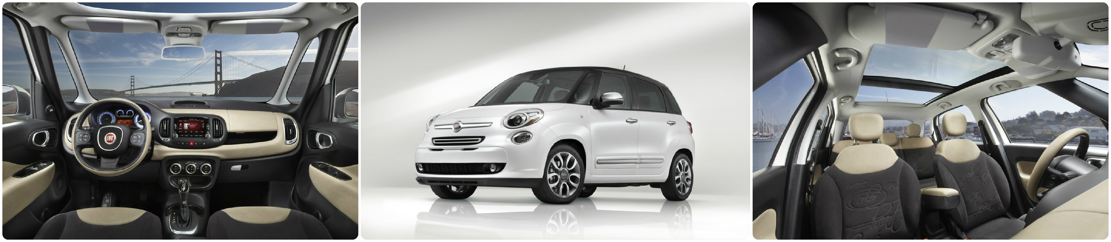 FIAT 500L Lounge interior and exterior