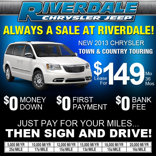 Lease Special On The 2013 Chrysler Town & Country Touring