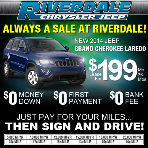 Lease Special On The 2014 Jeep Grand Cherokee Laredo At