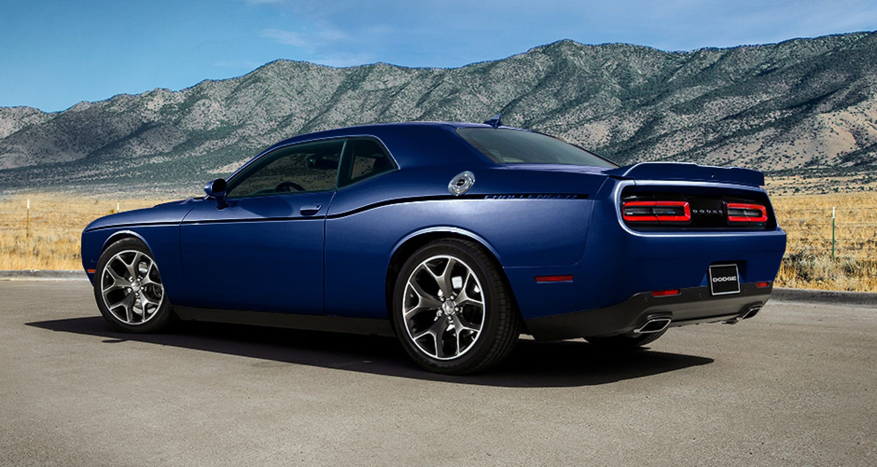 2017 Dodge Challenger Rear Exterior Blue